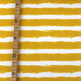 Bio-Sweat - 'Mellow Stripes senf' - 0.5m