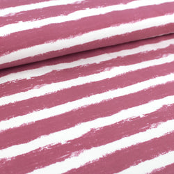 Bio-Sweat - 'Mellow Stripes vintage rose' - 0.5m