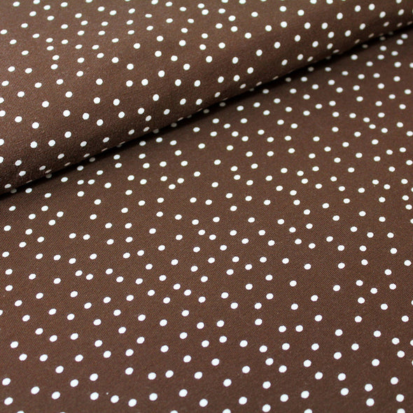 Fairtrade Biojersey Dotties Schoko