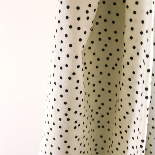 Fairtrade Biojersey Dotties Weiss