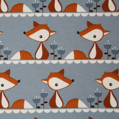 Biojersey - 'Little Fox grau' -  0.5m