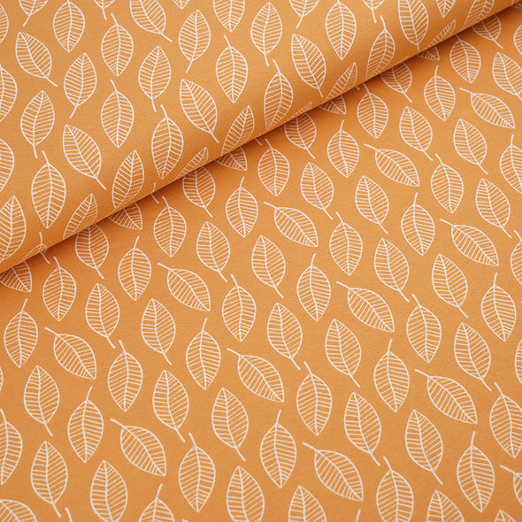 Fairtrade Biojersey Single Leave herbstgold