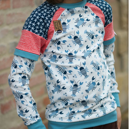 Fairtrade Biojersey Lobster Blau