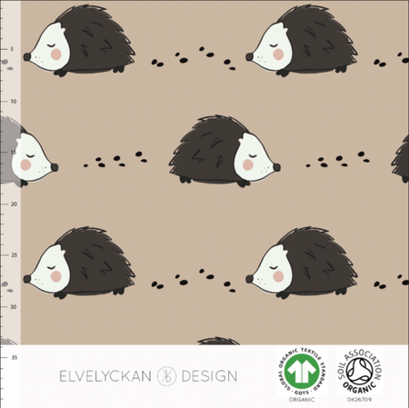 Fairtrade Biojersey Hedgehog Cappuccino