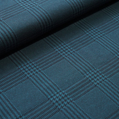 Fairtrade Bio Jacquard Glen Check Petrol