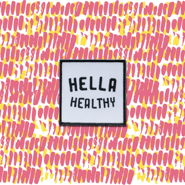 Hella Healthy 2in Iron on Patch