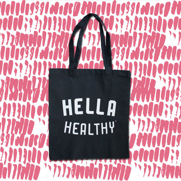 Canvas Tote Bag (Hella Healthy)