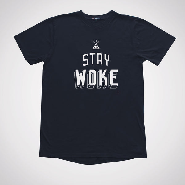 I Stay Woke Slim Gym V-neck