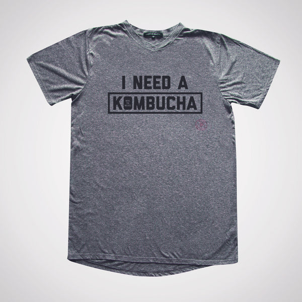 I Need a Kombucha Slim Gym V-neck