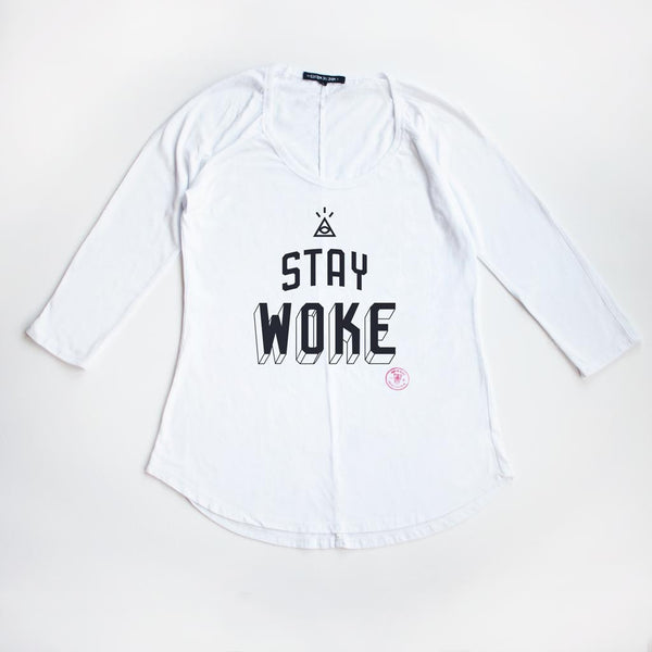 I Stay Woke Rugged Raglan Tee