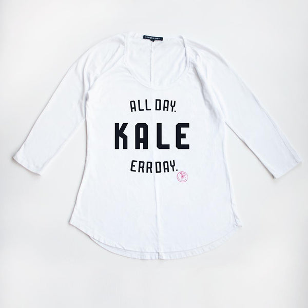 Kale. All Day. Err Day. Rugged Raglan Tee