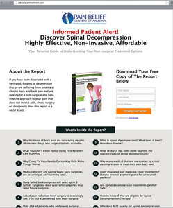 Spinal Decompression Free Report & Landing Page