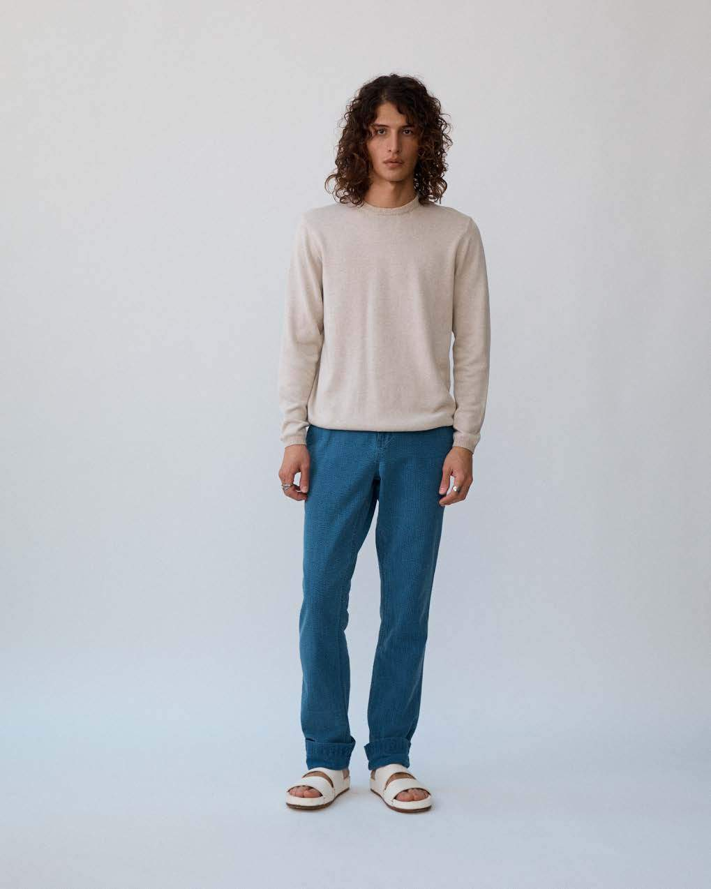 Natural Double Yarn Crewneck