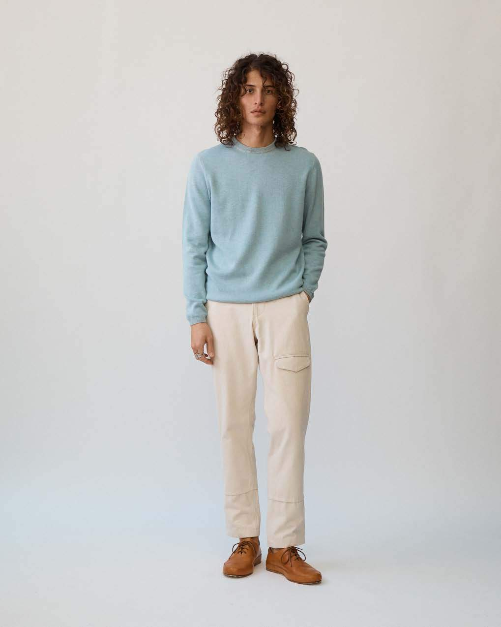Ocean Double Yarn Crewneck