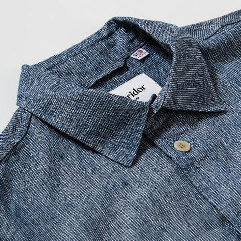 Blue Ticking Stripe Linen Overshirt