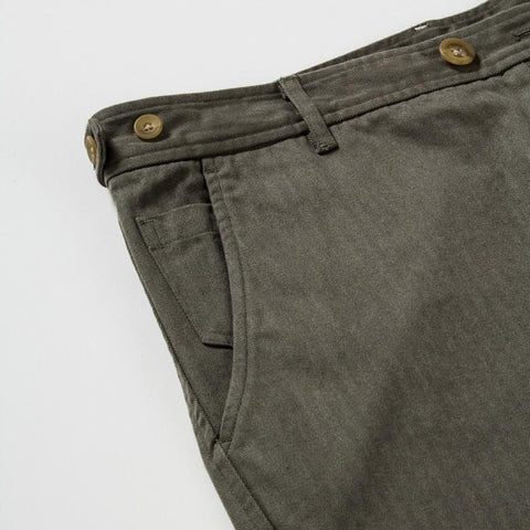 Herringbone Chinos - Faded Olive