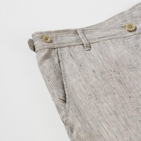 Natural Ticking Stripe Linen Trouser