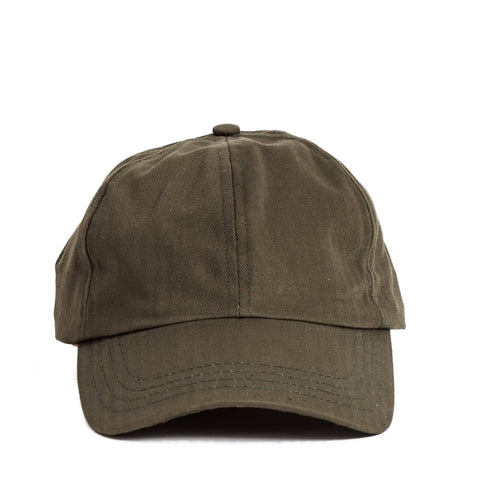 Faded Herringbone Olive Cap