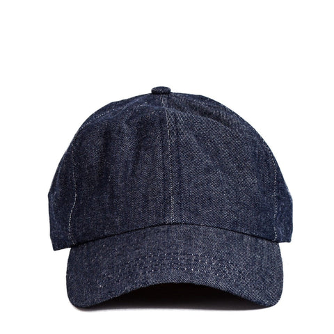 Raw Indigo Denim Cap