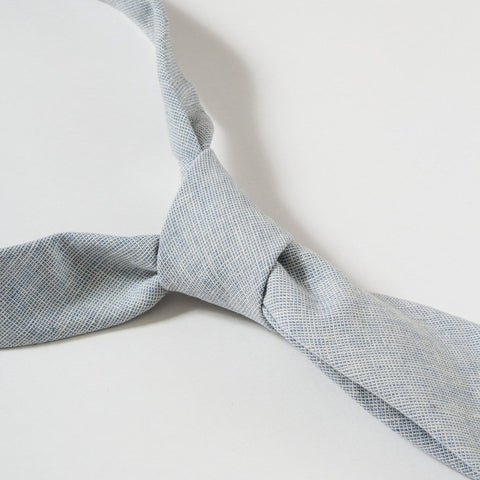 Basketweave Blue Tie