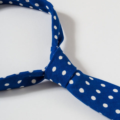 Mid Dot Lined - Blue - Tie