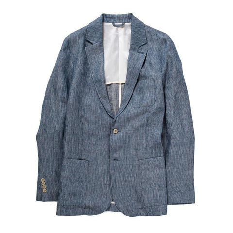Blue Ticking Stripe Linen - Blazer