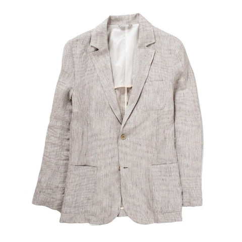 Natural Ticking Stripe Linen Blazer