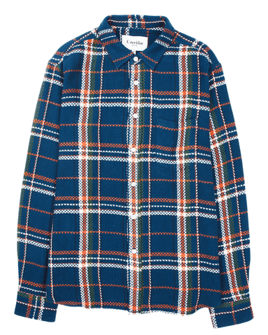 Acid Plaid Navy LS
