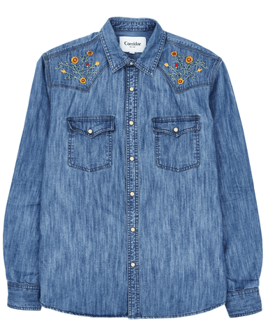 Denim Western Floral - Meadow