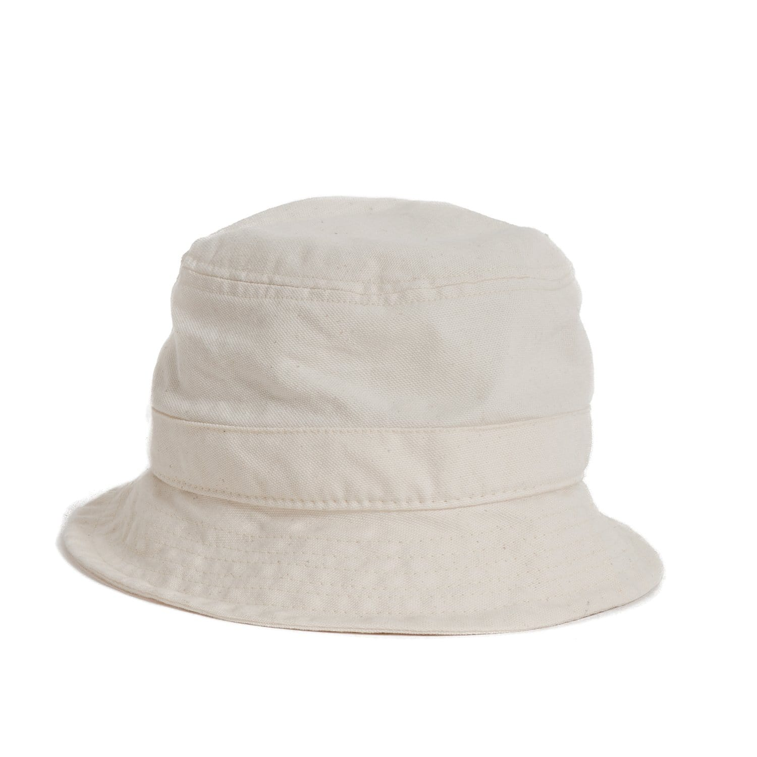 White Canvas Bucket Hat