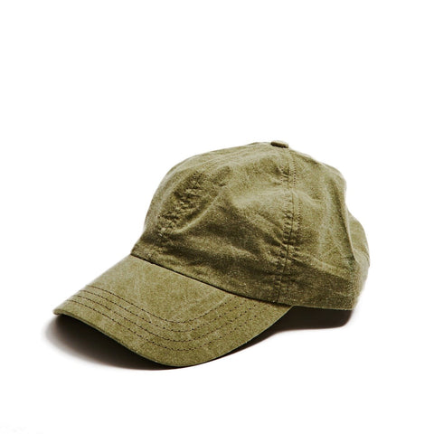 Distressed Canvas Olive Cap