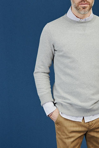 Grey Brushed Melange Loopback Sweatshirt