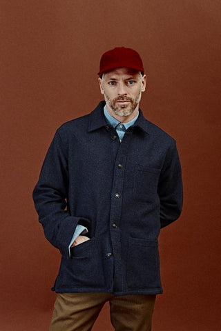 Lambswool 18oz (!) Overshirt - Navy Overshirt