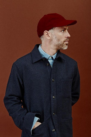 Autumn Red Moleskin Cap