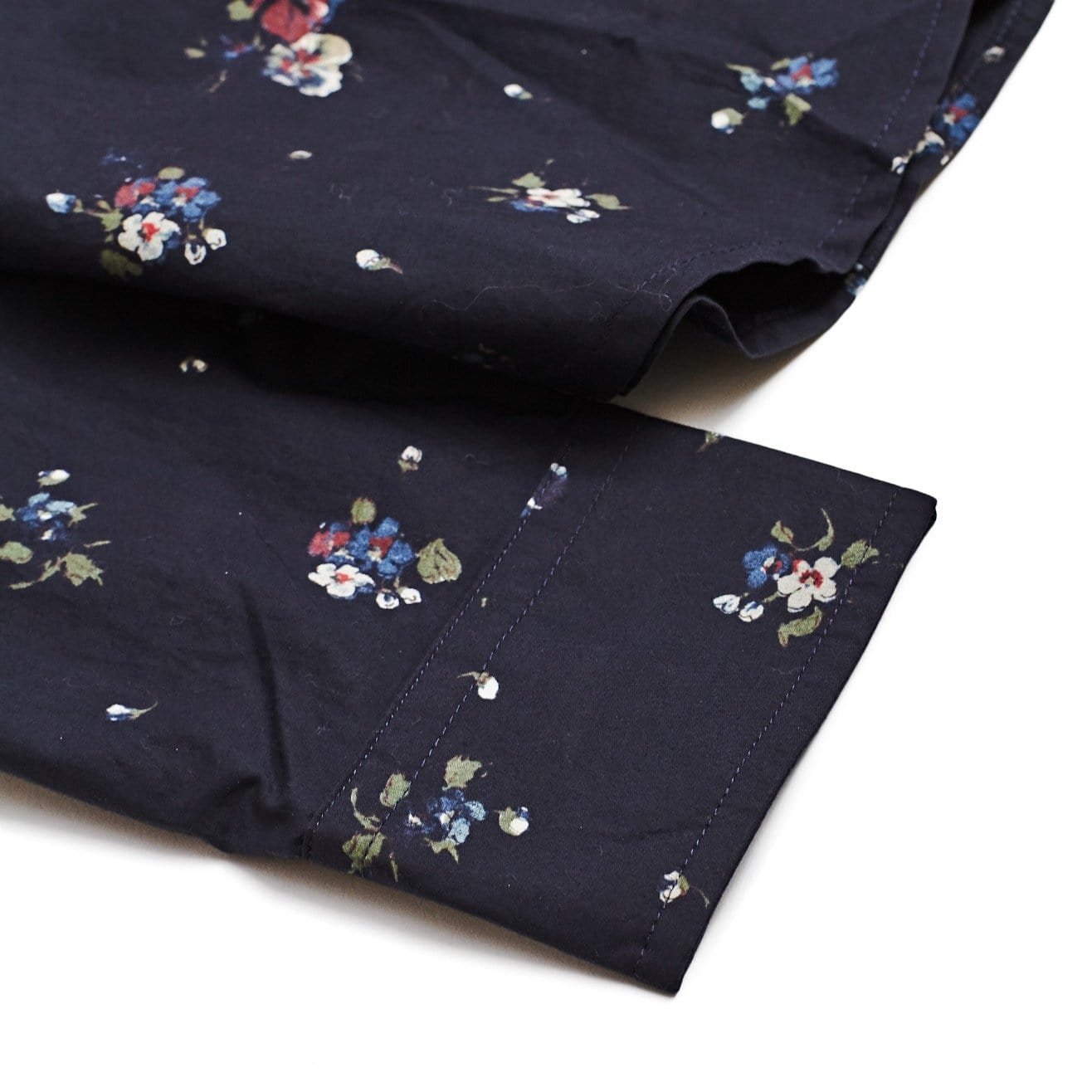 Black Floral Broadcloth LS