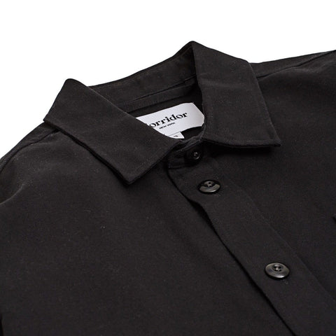 Water Resist 10oz Duck - Black Overshirt