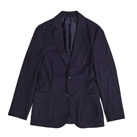 Navy Wool Spec Blazer