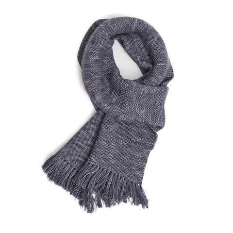 Space-dye Alpaca Scarf - Grey