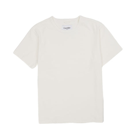 Slub Jersey Knit White T-Shirt