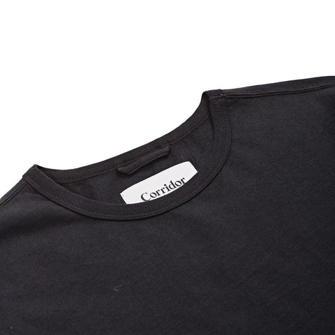 Slub Jersey Knit Black T-Shirt