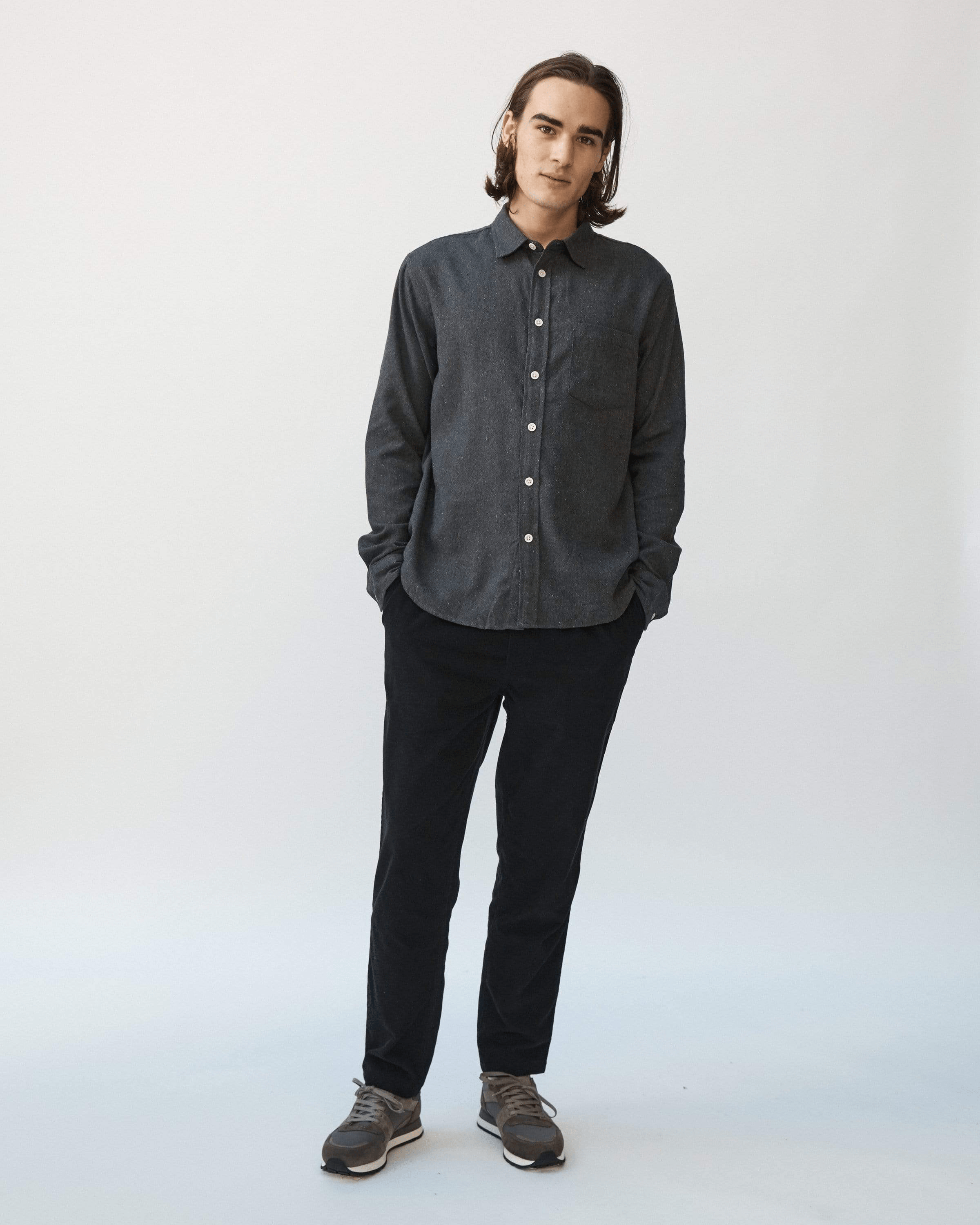 Recycled Double Twill Flannel - Black