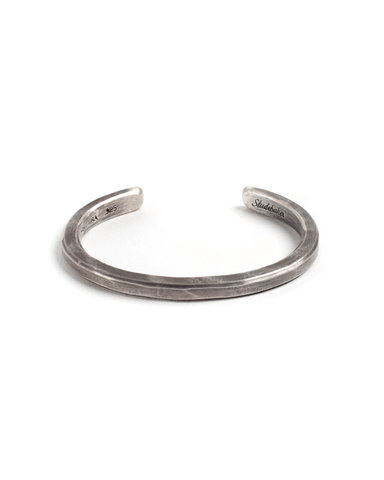 Heavyweight Classic Cuff - Sterling Silver - Work Patina