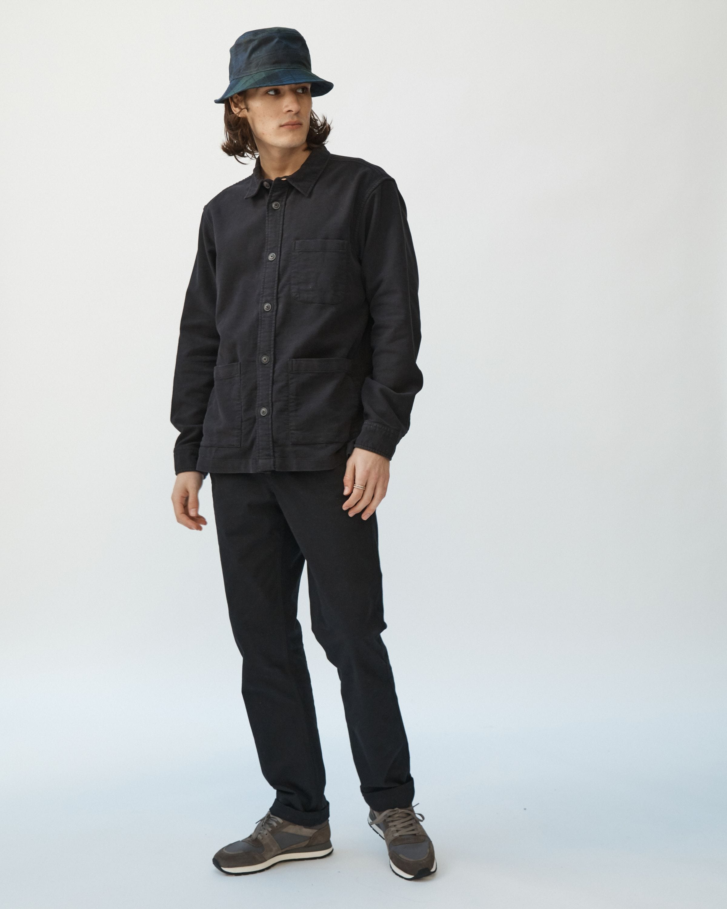 Black Moleskin Overshirt