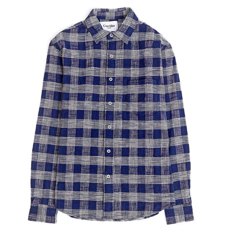 Indigo Blue Triple Check LS