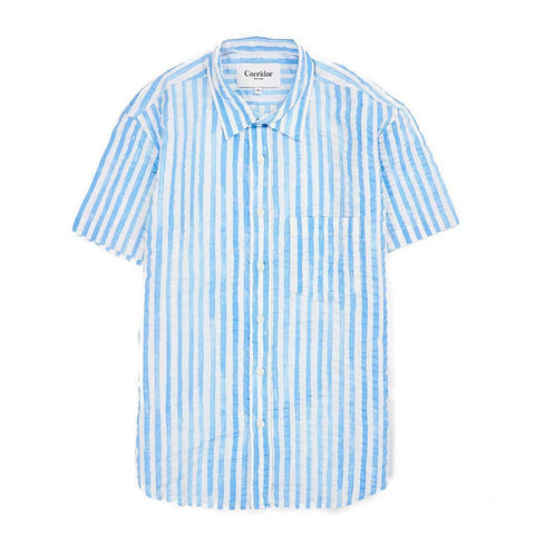 Watercolor Stripe Blue SS