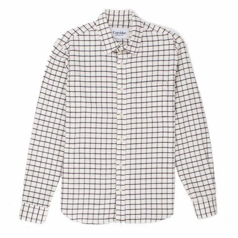 White Check Wool Blend