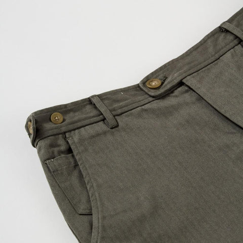 Herringbone Shorts - Olive