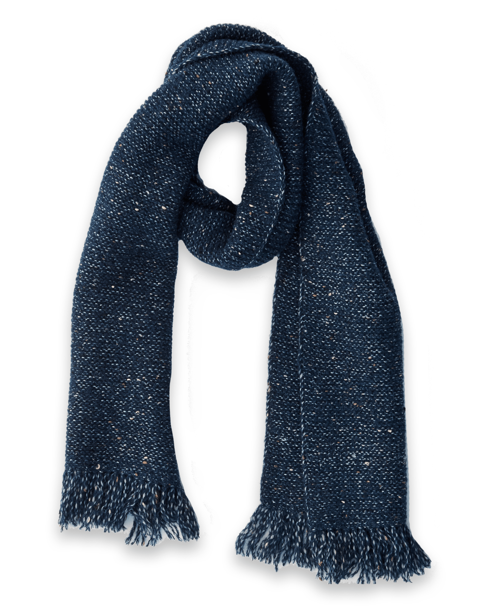 Alpaca Donegal Navy Scarf