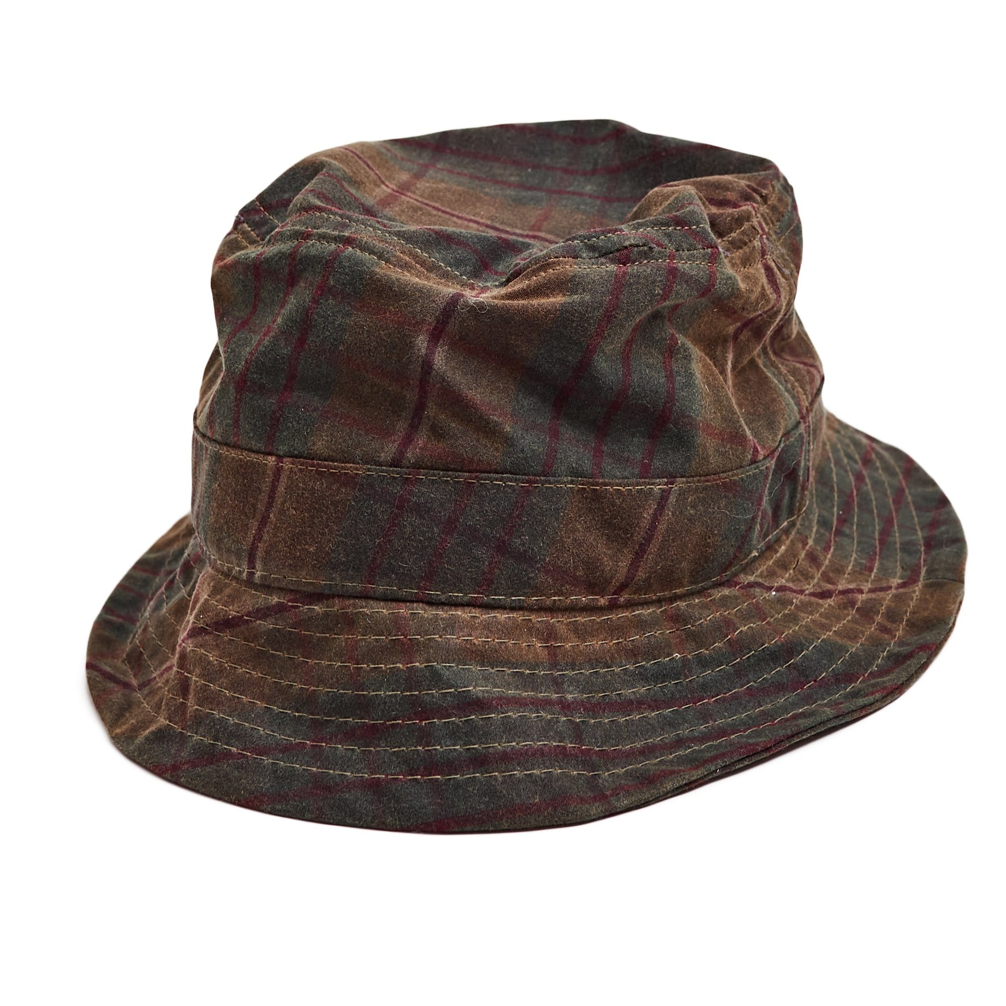 Bucket Hat Wax Plaid