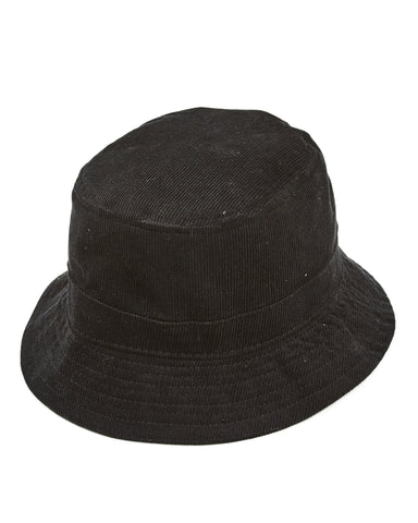 Black Cord Bucket Hat